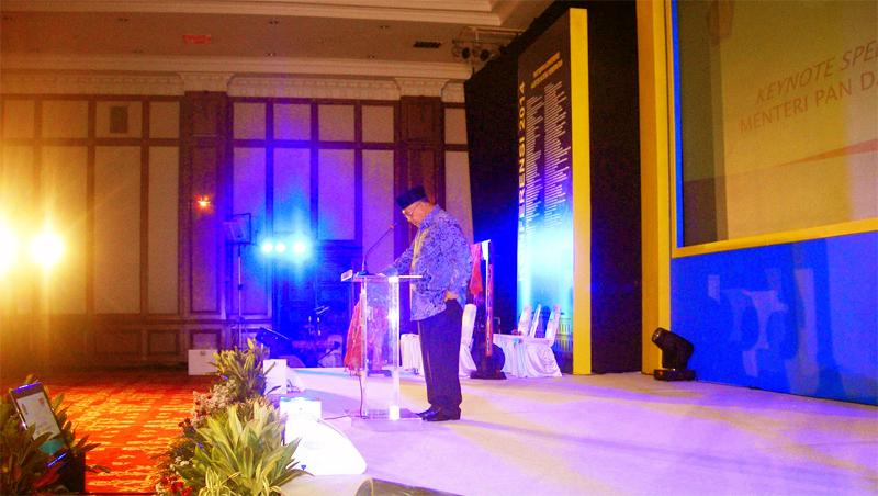 Keynotes Speech oleh Menteri PAN dan RB.